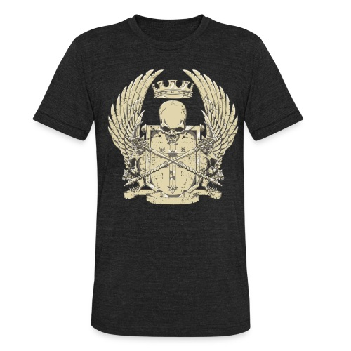 Men's Skull and Wings Tee - Unisex Tri-Blend T-Shirt