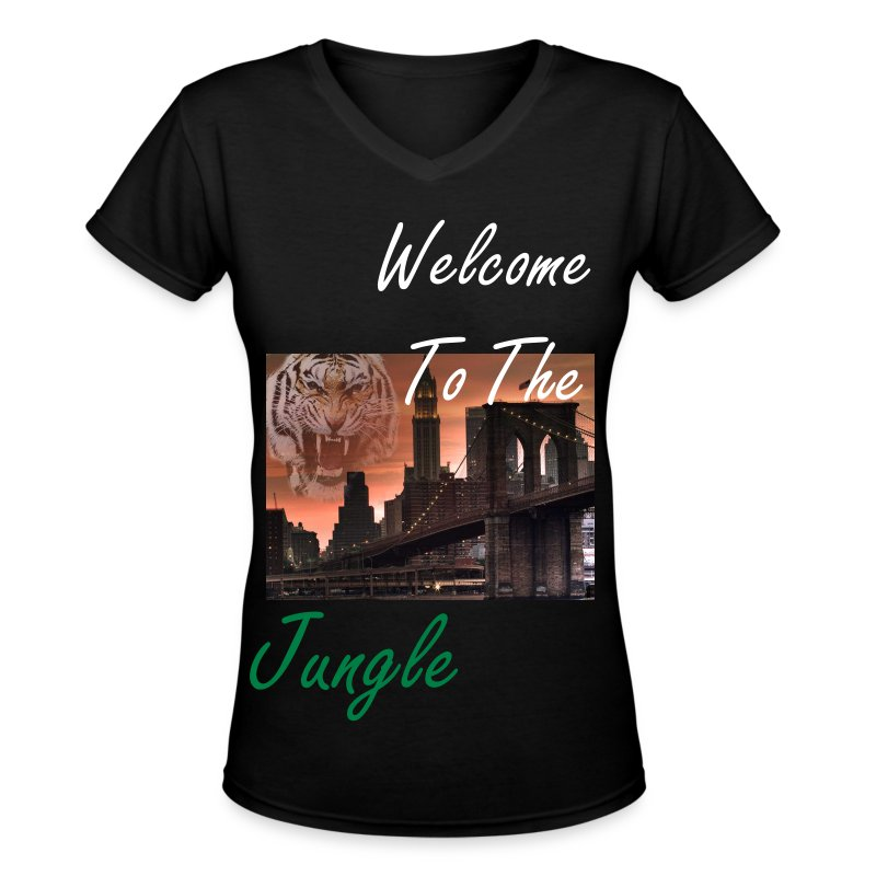 welcome to the jungle t shirt spreadshirt. Black Bedroom Furniture Sets. Home Design Ideas