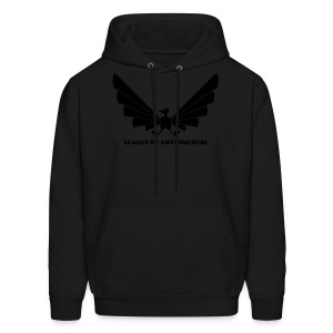 LOA - fuzzy black on black - Men's Hoodie