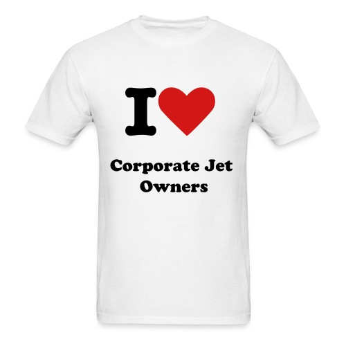 I Love Corporate Jet Owners - Men's T-Shirt