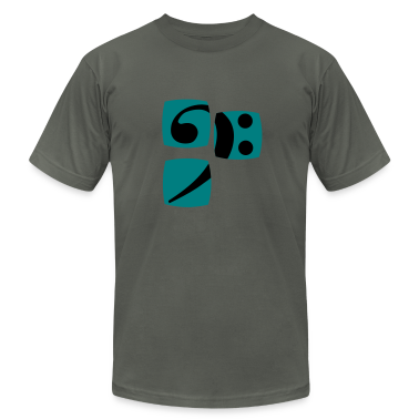 Bass clef for bass player and bass player shows you her bass player and musician T-Shirts