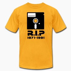 5.25 inch floppy Rest in Peace RIP death Retro Nerd Geek T-Shirts