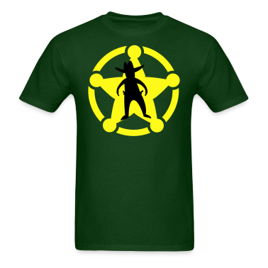wild west sherif outlaw on a badge T-Shirts