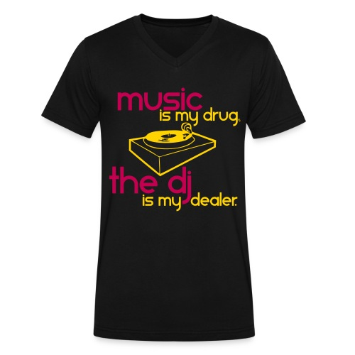 MUSIC IS MY DRUG - Men's V-Neck T-Shirt by Canvas