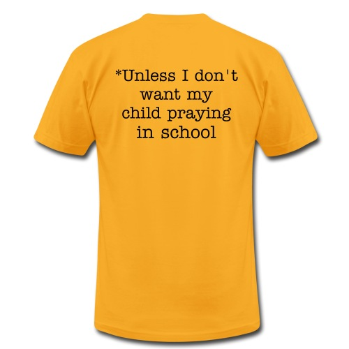 Don't Tread on me* (prayer) - Men's Fine Jersey T-Shirt