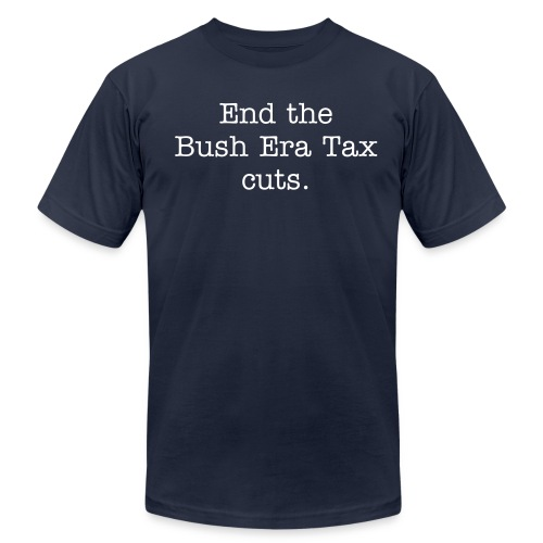 End Bush Tax Cuts - Men's Fine Jersey T-Shirt