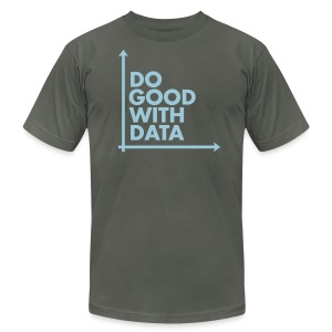 Do Good With Data Axis - Men's T-Shirt by American Apparel