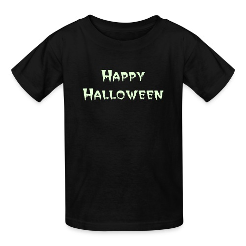 Kid's Glow in the Dark Happy Halloween Tee - Kids' T-Shirt