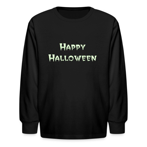 Kid's Glow in the Dark Happy Halloween Long Sleeve - Kids' Long Sleeve T-Shirt