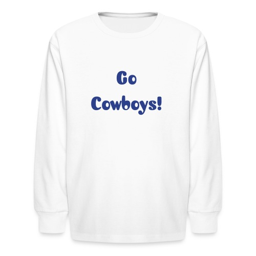 Kid's Go Cowboys Glitz Long Sleeve - Kids' Long Sleeve T-Shirt