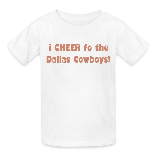 Girl's Pink Glitz i CHEER for the Dallas Cowboys! Tee - Kids' T-Shirt