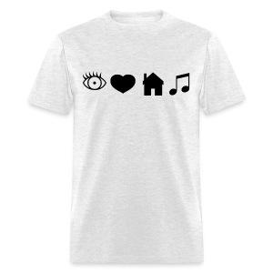 Eye Heart House Music (Black Design) - Men's T-Shirt