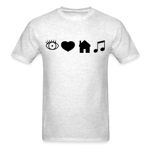 Eye Heart House Music (Black Design) - Men's T-Shirt