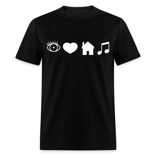 Eye Heart House Music (White Design) - Men's T-Shirt