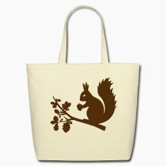 squirrel acorn oak tree leave nature wood rodent  Bags