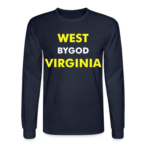 LS West ByGod Virginia - plain back - Men's Long Sleeve T-Shirt