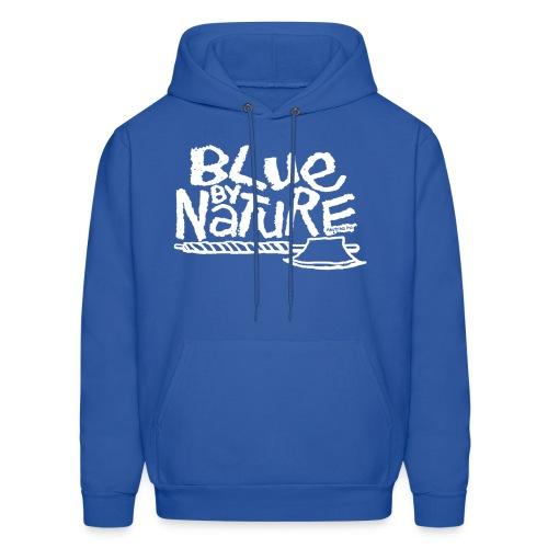 Blue by Nature Hoodie (white) - Men's Hoodie