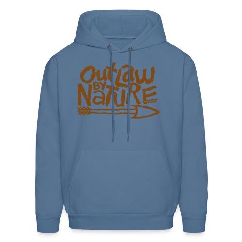 Outlaw by Nature Hoodie (brown) - Men's Hoodie