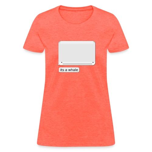 Women's iPhone Whale Shirt its a whale - Women's T-Shirt