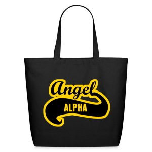 Alpha Angel Tail LG Tote - Eco-Friendly Cotton Tote