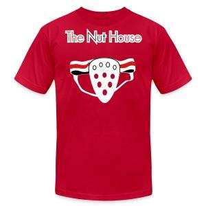 The Nut House - Jockstrap Athletic Supporter - Mens T-Shirt - Men's Fine Jersey T-Shirt