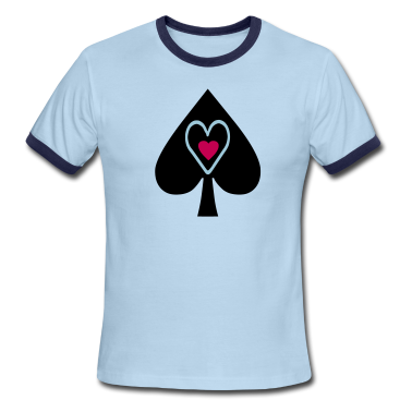 ••♥Men's Spade Ringer T-Shirt by American Apparel♥••