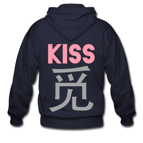 [SJM] Kiss Mi - Men's Zip Hoodie