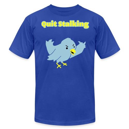 Quit Stalking - Twitter Parody - Men's T-Shirt - Men's Fine Jersey T-Shirt