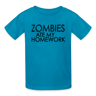 Zombies Ate My Homework Kids' Shirts