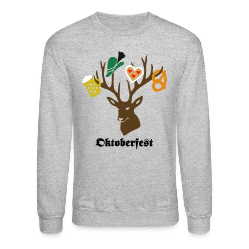 t-shirt oktoberfest bavaria munich germany stag party beer pretzel edelweiss T-Shirts - Crewneck Sweatshirt