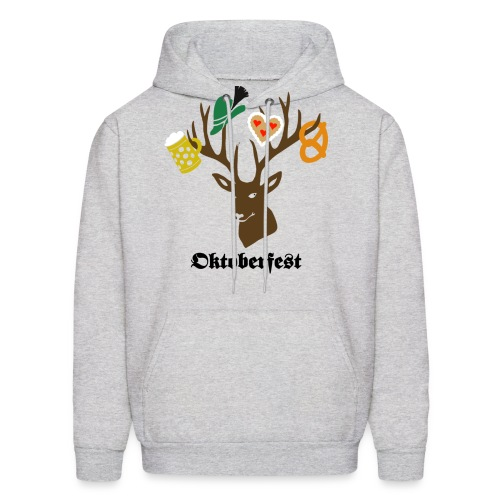 t-shirt oktoberfest bavaria munich germany stag party beer pretzel edelweiss T-Shirts - Men's Hoodie