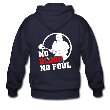 No Blood No Foul (lacrosse) Zip Hoodies/Jackets