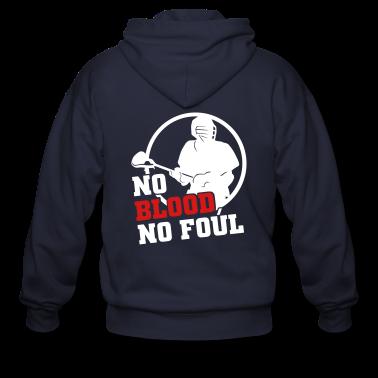 No Blood No Foul (lacrosse) Zip Hoodies/Jackets