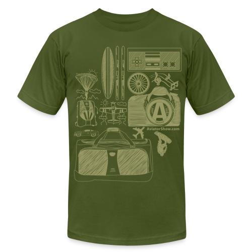 Aviator's World Tan - Men's Fine Jersey T-Shirt