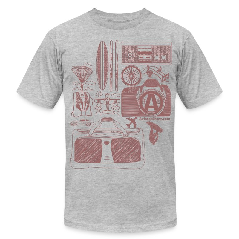 Aviator's World Red - Men's T-Shirt by American Apparel