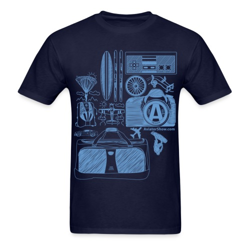 Aviator's World Blue - Men's T-Shirt