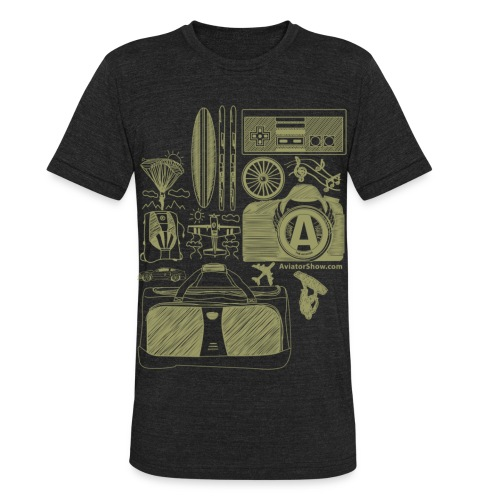 Aviator's World Tan - Unisex Tri-Blend T-Shirt by American Apparel