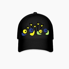 unique flowers pattern vector graphic line art Baseball Cap