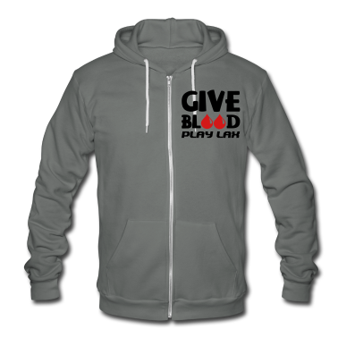 Give Blood Play Lacrosse Zip Hoodies/Jackets