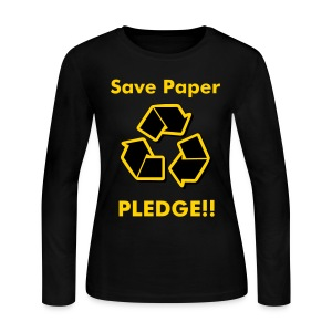AAI: Save Paper Pledge!! - Women's Long Sleeve Jersey T-Shirt