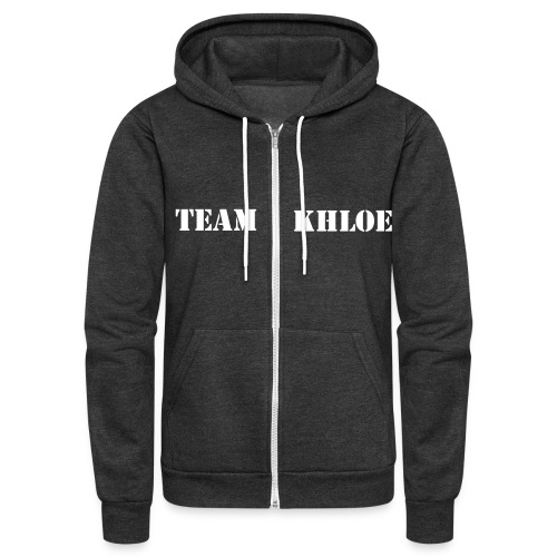 Team Khloe Support Jacket - Unisex Fleece Zip Hoodie