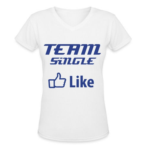 TEAM SiNGLE - Women's V-Neck T-Shirt