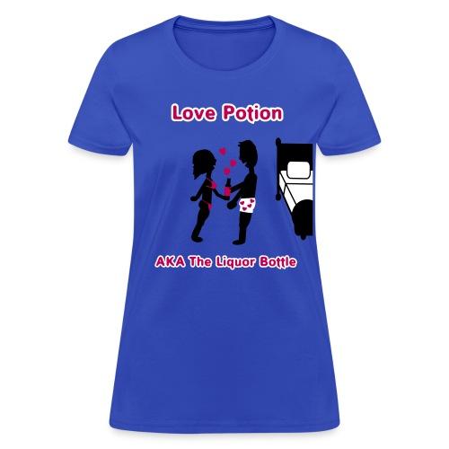 Love Potion - AKA The Liquor Bottle - Women's T-Shirt - Women's T-Shirt