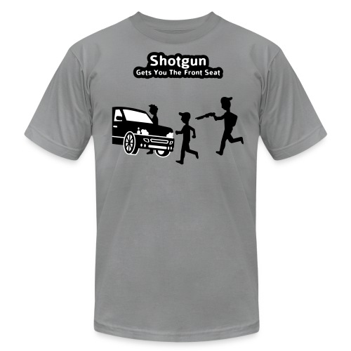 Shotgun - Gets You The Front Seat - Men's T-Shirt - Men's Fine Jersey T-Shirt
