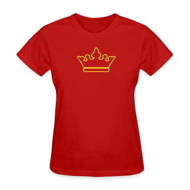 crown outline fancy for royalty Women's T-Shirts