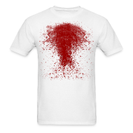 T-Shirts ~ Men's T-Shirt ~ BLOODY ZOMBIE SPLATTER T-SHIRT - HALLOWEEN SALE $12.99