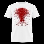 T-Shirts ~ Men's T-Shirt ~ BLOODY ZOMBIE SPLATTER T-SHIRT - HALLOWEEN SALE $12.99