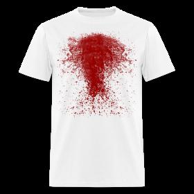 BLOODY ZOMBIE SPLATTER T-SHIRT - HALLOWEEN SALE $12.99 ~ 351