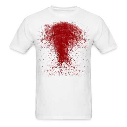 BLOODY ZOMBIE SPLATTER T-SHIRT - HALLOWEEN SALE $12.99 - Men's T-Shirt