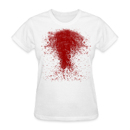 T-Shirts ~ Women's T-Shirt ~ BLOODY ZOMBIE SPLATTER WOMEN T-SHIRT - HALLOWEEN SALE $12.99
